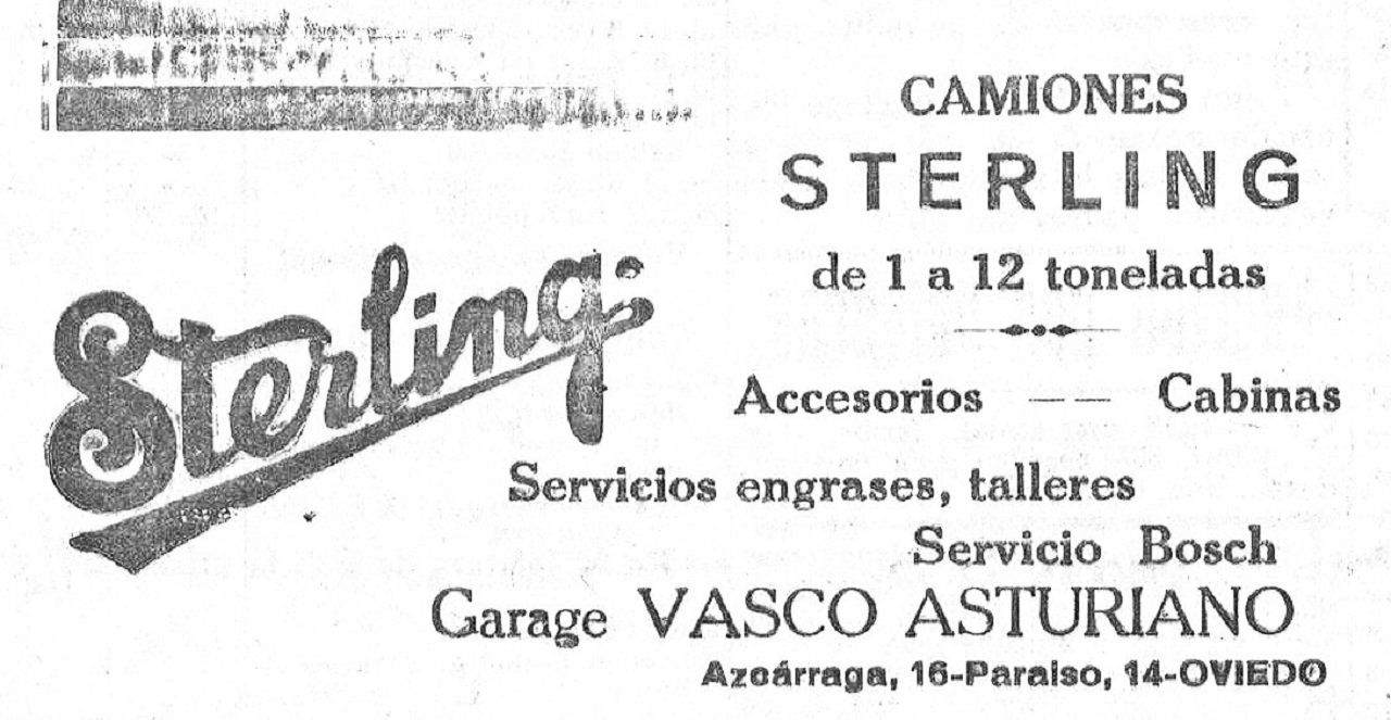 Publicidad en La Voz de Asturias del 26 de Septiembre de 1931
