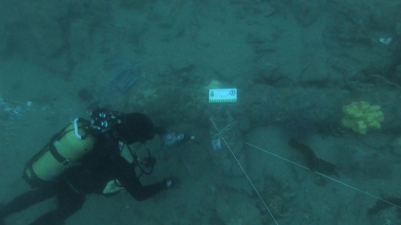Las imágenes del 8M en Ferrol.En las inmersiones se identificaron cinco piezas de artillería