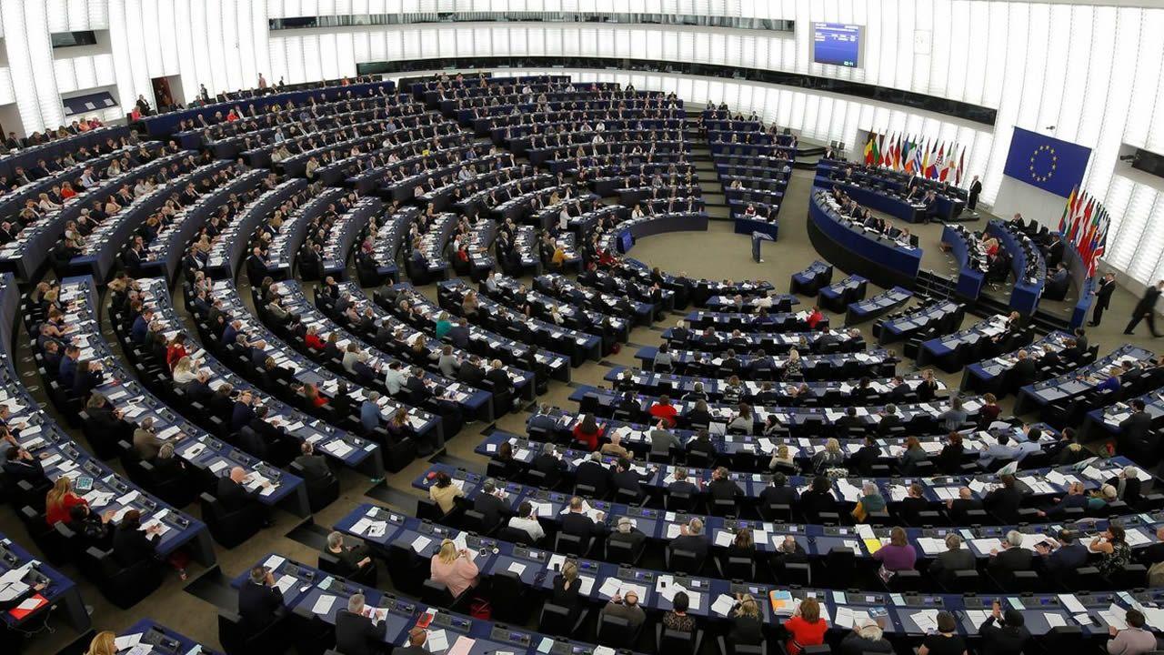 Sesión de votación en el Parlamento de Europeo. Estrasburgo (Francia)