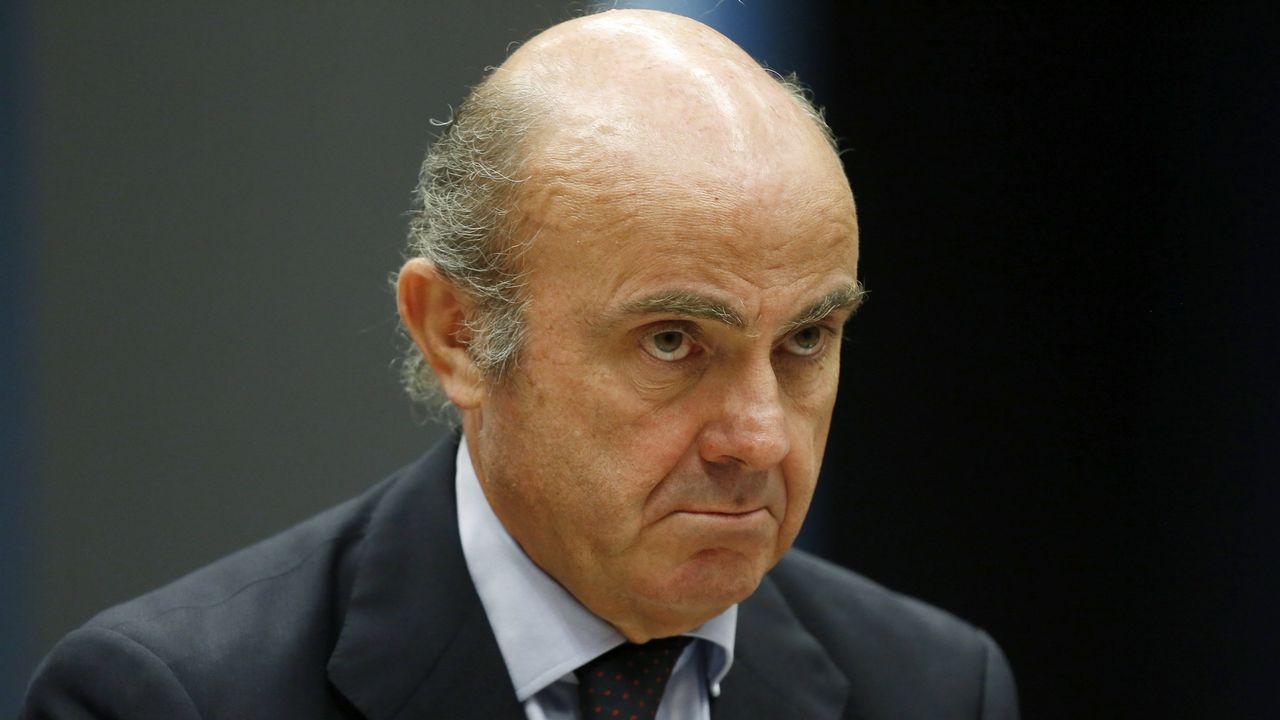 El exgobernador del Banco de España Miguel Ángel Fernández Ordóñez, durante su comparecencia en el Congreso sobre la reestructuración del mercado bancario