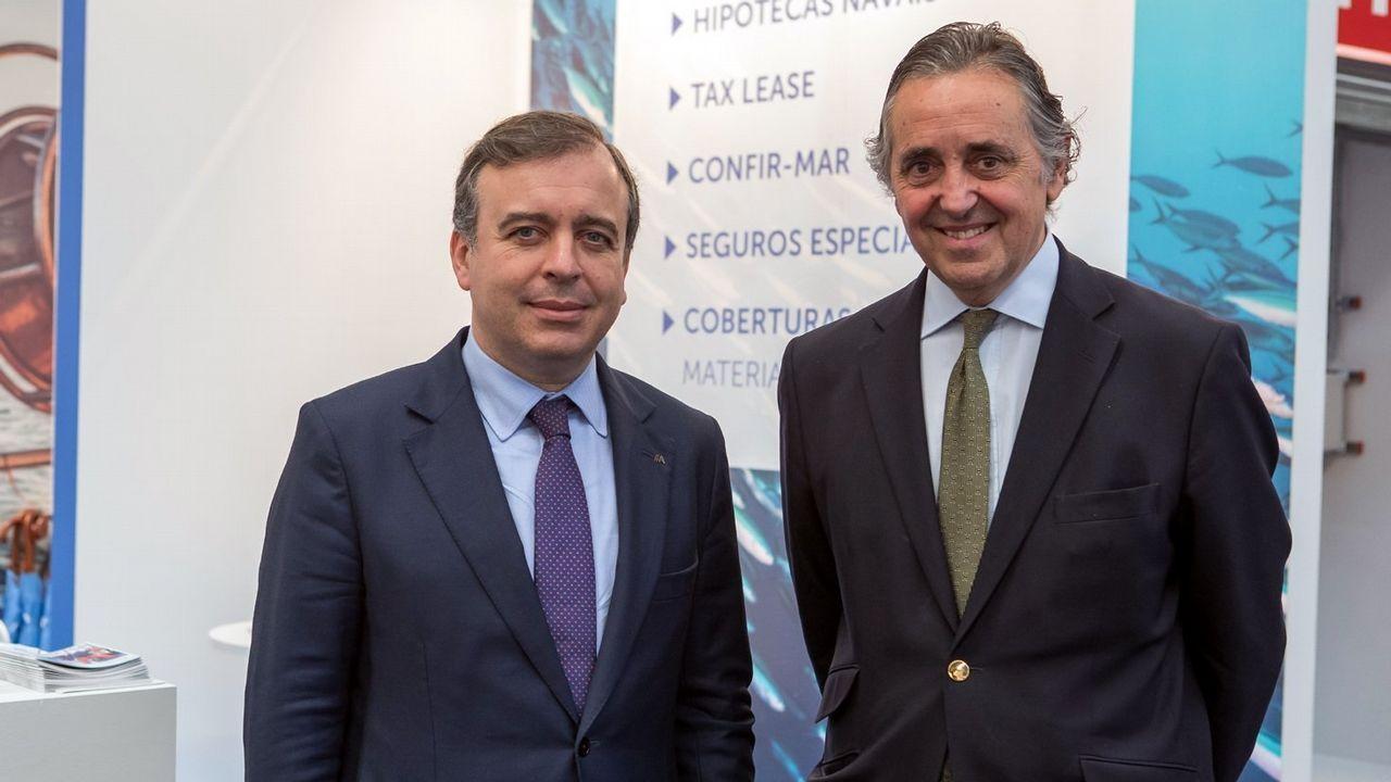 Francisco Botas, consejero delegado de Abanca, y Jacobo González- Robatto, presidente de Nueva Pescanova