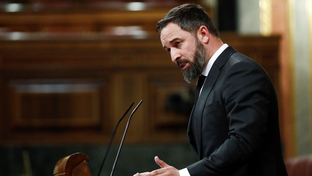 Santiago Abascal, líder de Vox, exigió la dimisión del presidente Pedro Sánchez y el vicepresidente Pablo Iglesias