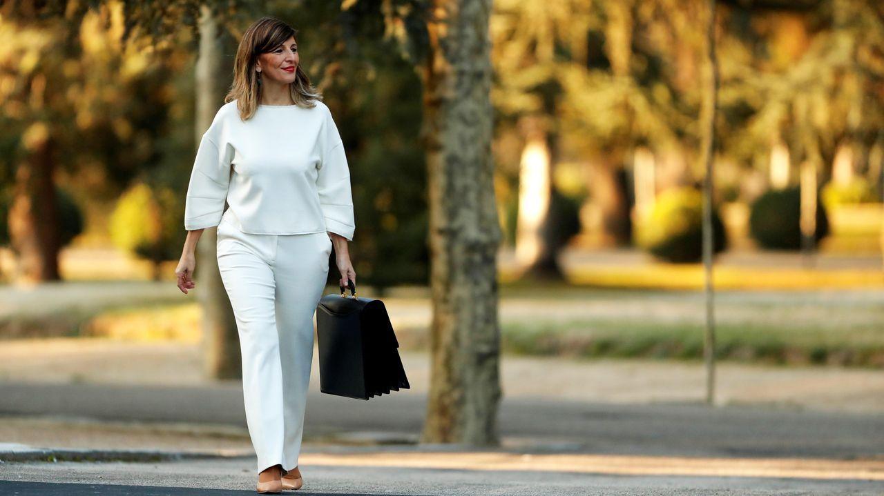 La ministra de Trabajo, la gallega Yolanda Díaz