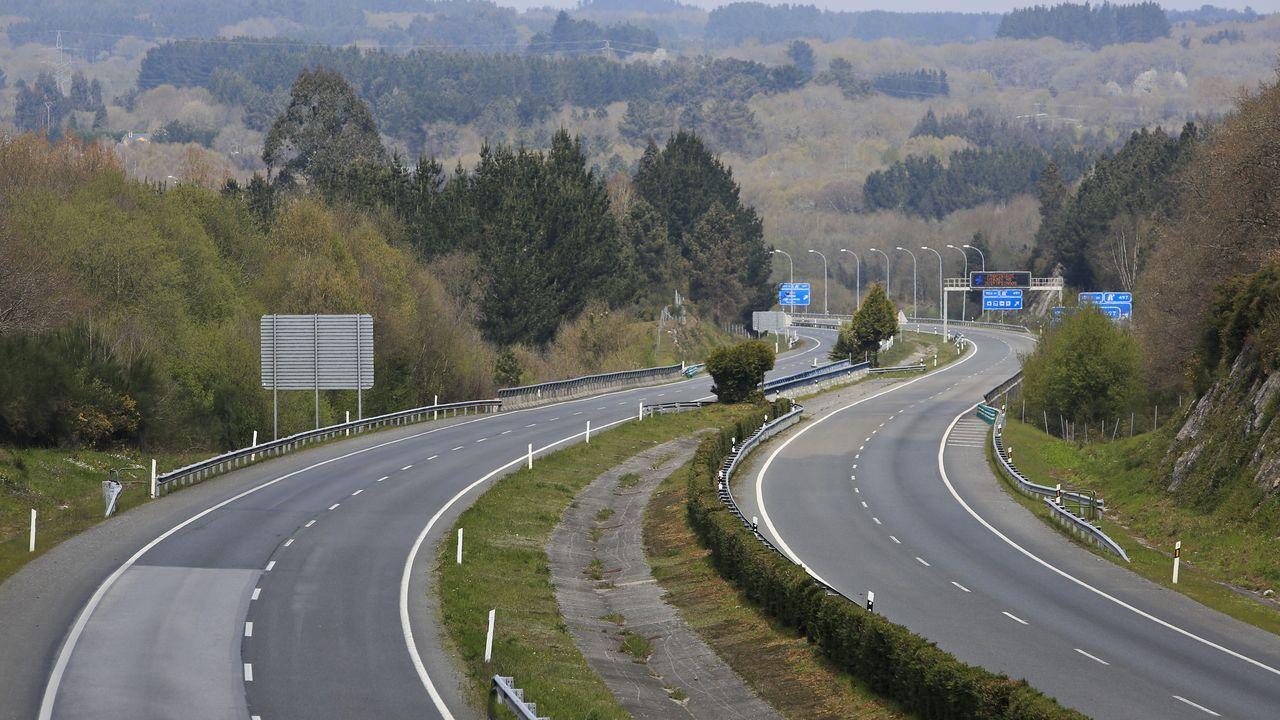 Autovía A-8, entre las salidas de A Fonsagrada y la N-540