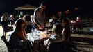 Un aspecto de la cata nocturna organizada el año pasado en Margaride la bodega EDV 2015