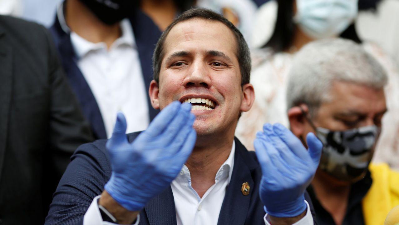 El presidente de la Asamblea venezolana, Juan Guaidó, el pasado 17 de junio, en Caracas