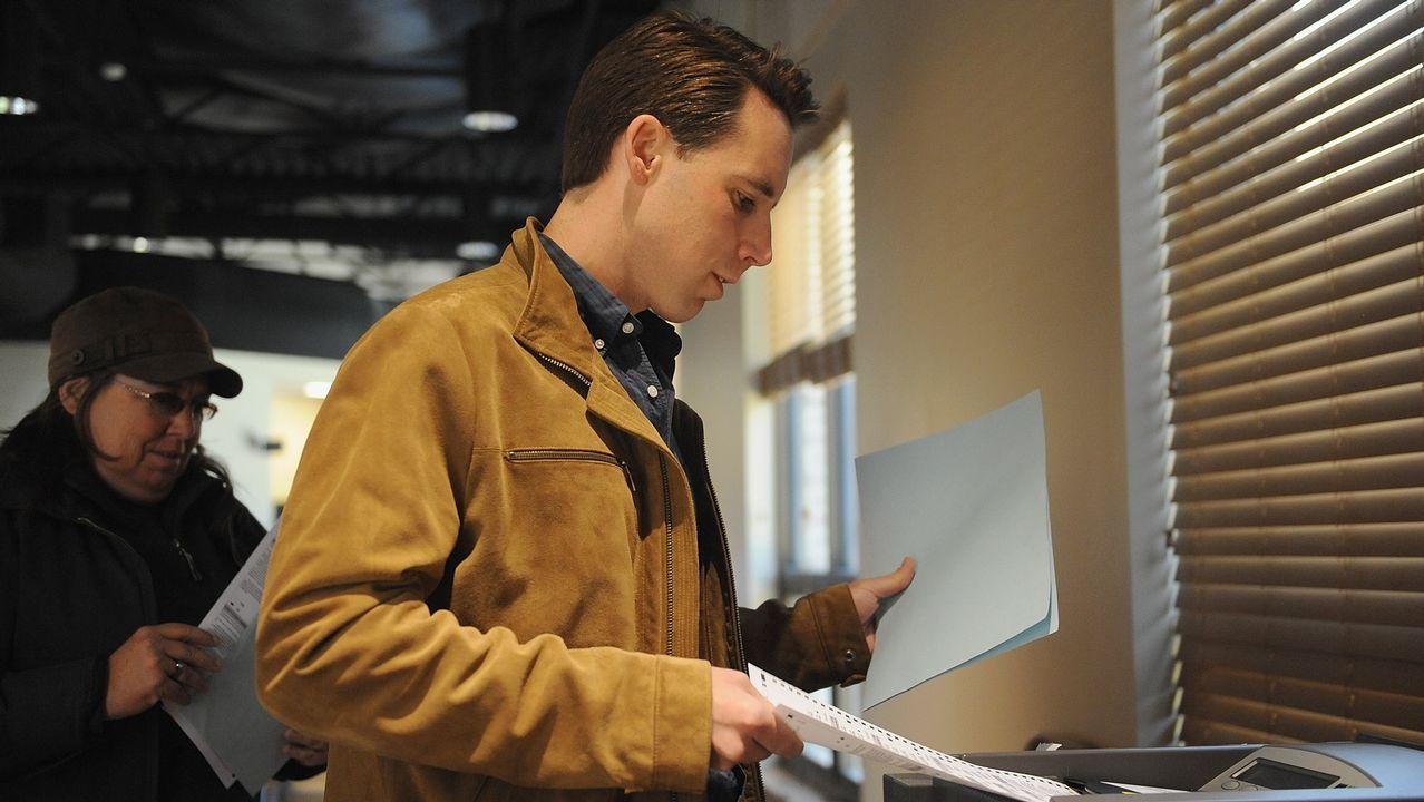 El candidato republicano al Senado por Missouri, Josh Hawley