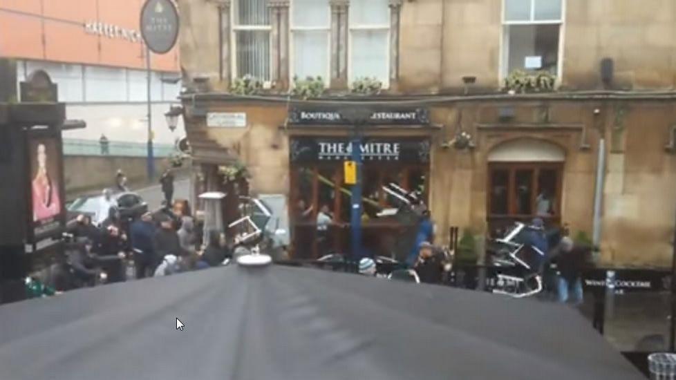 Incidentes en Manchester.