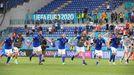 Los jugadores de Italia clasifican su clasificación para octavos en cabeza de su grupo
