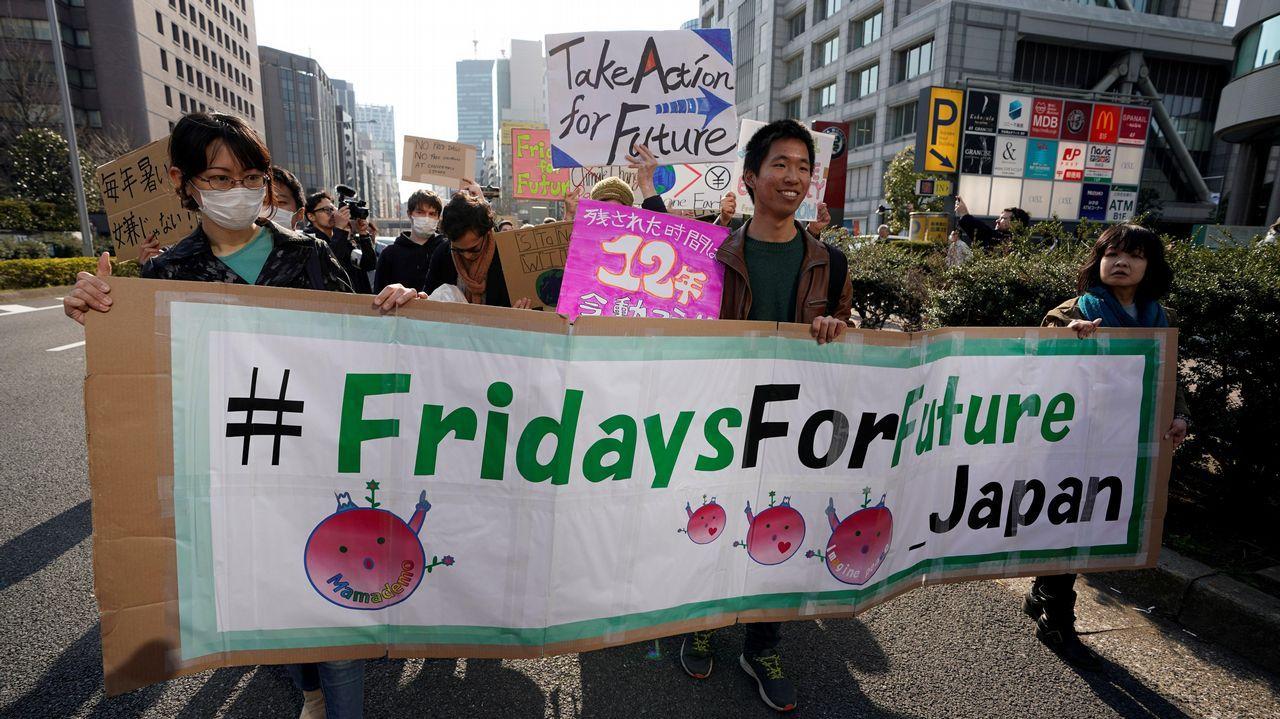 Protestas en Australia.Tokio
