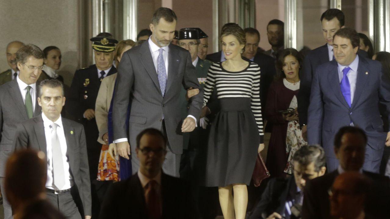Inauguración, en febrero del 2015, de la exprosición «El primer Picasso» en el museo Bellas Artes de A Coruña
