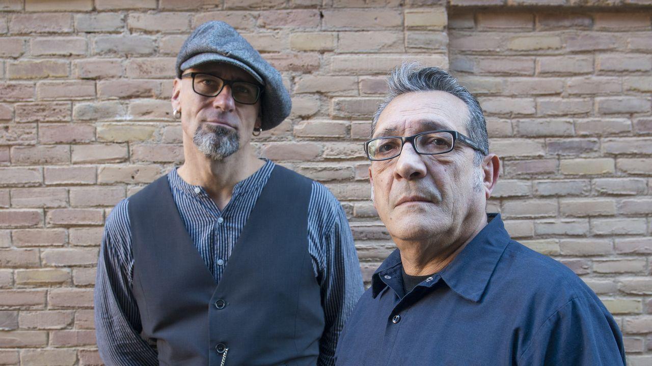 Manuel López Poy (dereita) e Blas Picón (esquerda)