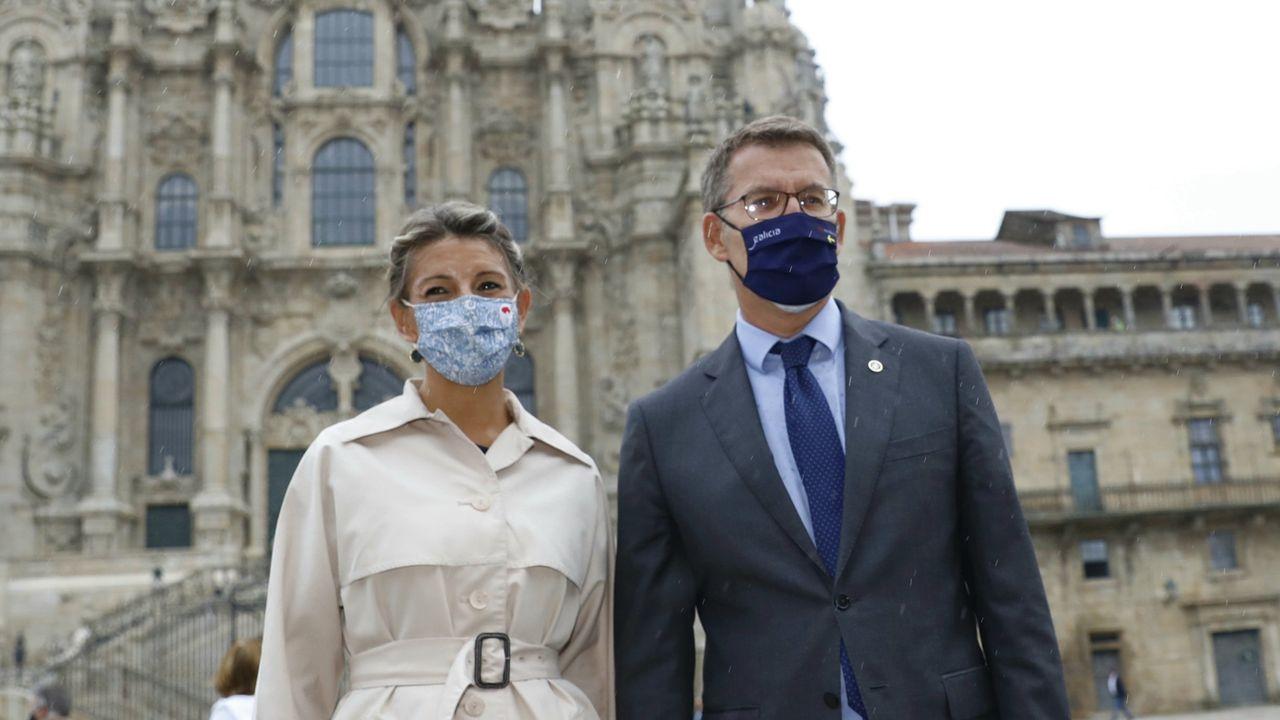 En directo: Alberto Núñez Feijoo y Yolanda Díaz comparecen tras su reunión en Santiago