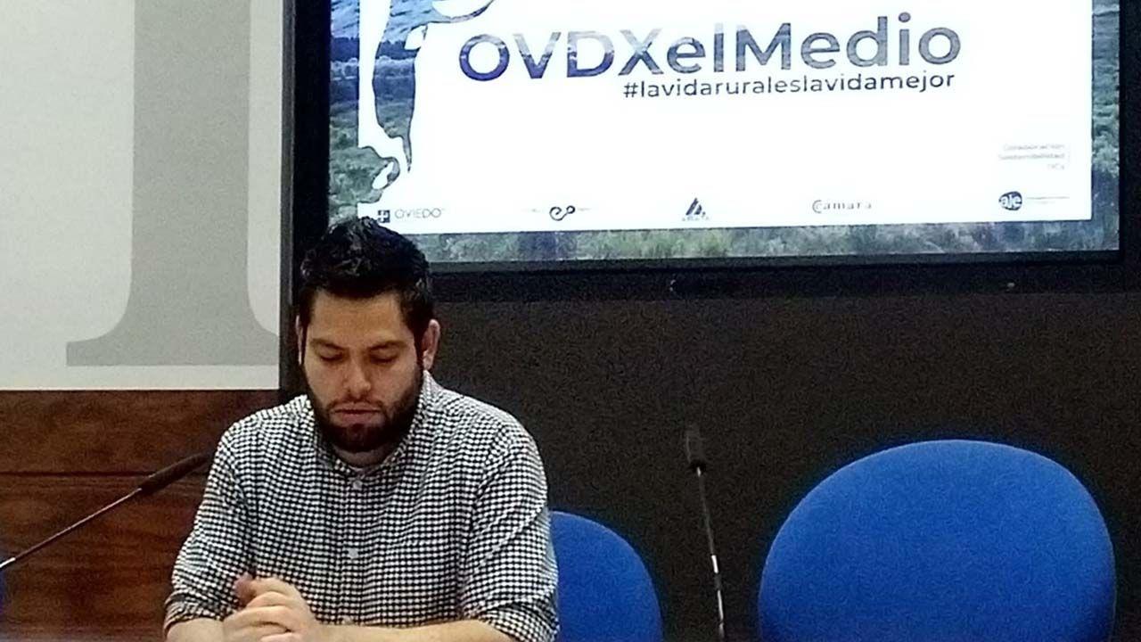 El concejal de Somos en el Ayuntamiento de Oviedo, Rubén Rosón.