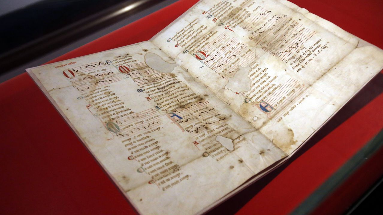 O chamado pergamiño Vindel recolle as cantigas de Martín Códax