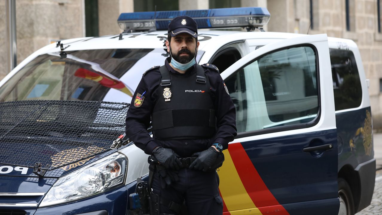 Alberto Martínez, de la unidad UPR del Cuerpo Nacional de Policía