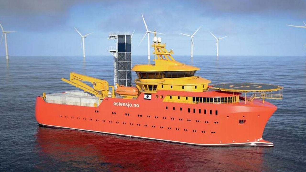 Vídeo de la botadura de un buque de apoyo a eólicos en Gondán.El buque de apoyo a la instalación de parques eólicos marinos cuenta con helipuerto y puede alojar a 120 personas, 93 técnicos y 27 tripulantes