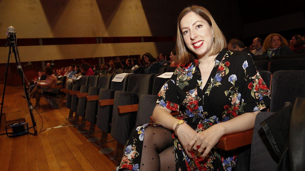 La divulgadora Deborah García durante la jornada Educación Dixital celebrada en Santiago