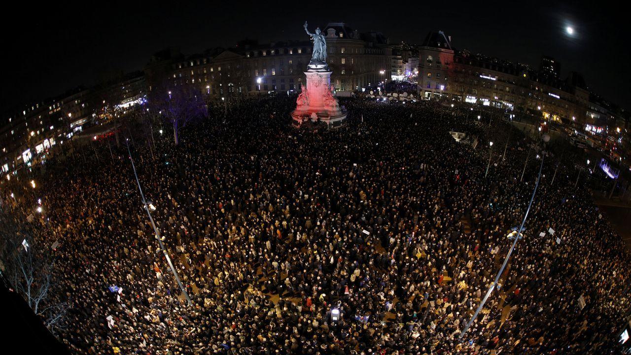 Decenas de miles de franceses salieron a las calles en respuesta a la convocatoria de movilizaciones en unas 70 localidades de todo el país