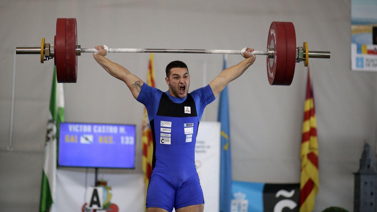Víctor Castro. Es un clásico en las grandes citas internacionales de halterofilia, pero se le resiste la medalla.