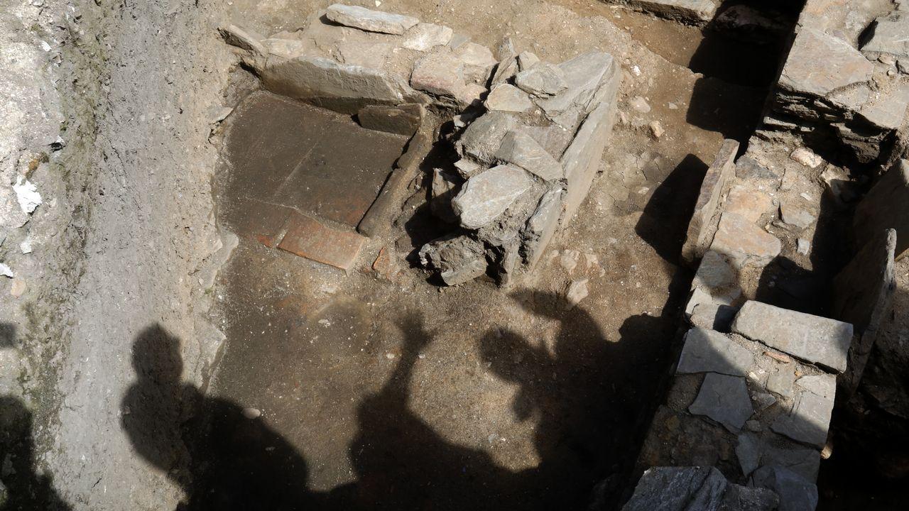 Los restos localizados en O Carme
