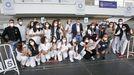 El equipo de vacunación contra el covid del recinto ferial de Pontevedra, el pasado sábado, último día de pinchazos