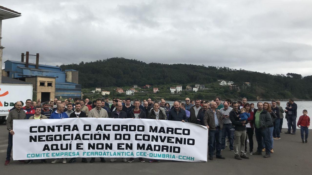 ¿Por qué cierra Alcoa en A Coruña dejando sin empleo a casi 400 trabajadores?.Manifestación contra el acuerdo marco, hace unas semanas