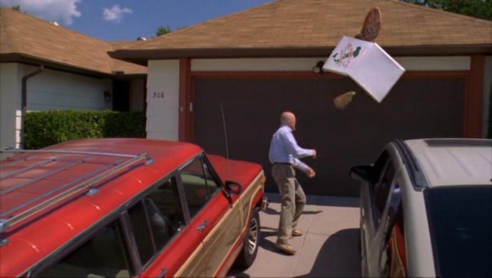 La escena de la pizza de «Breaking Bad».«Mad Men» emitió en este 2015 su último capítulo.