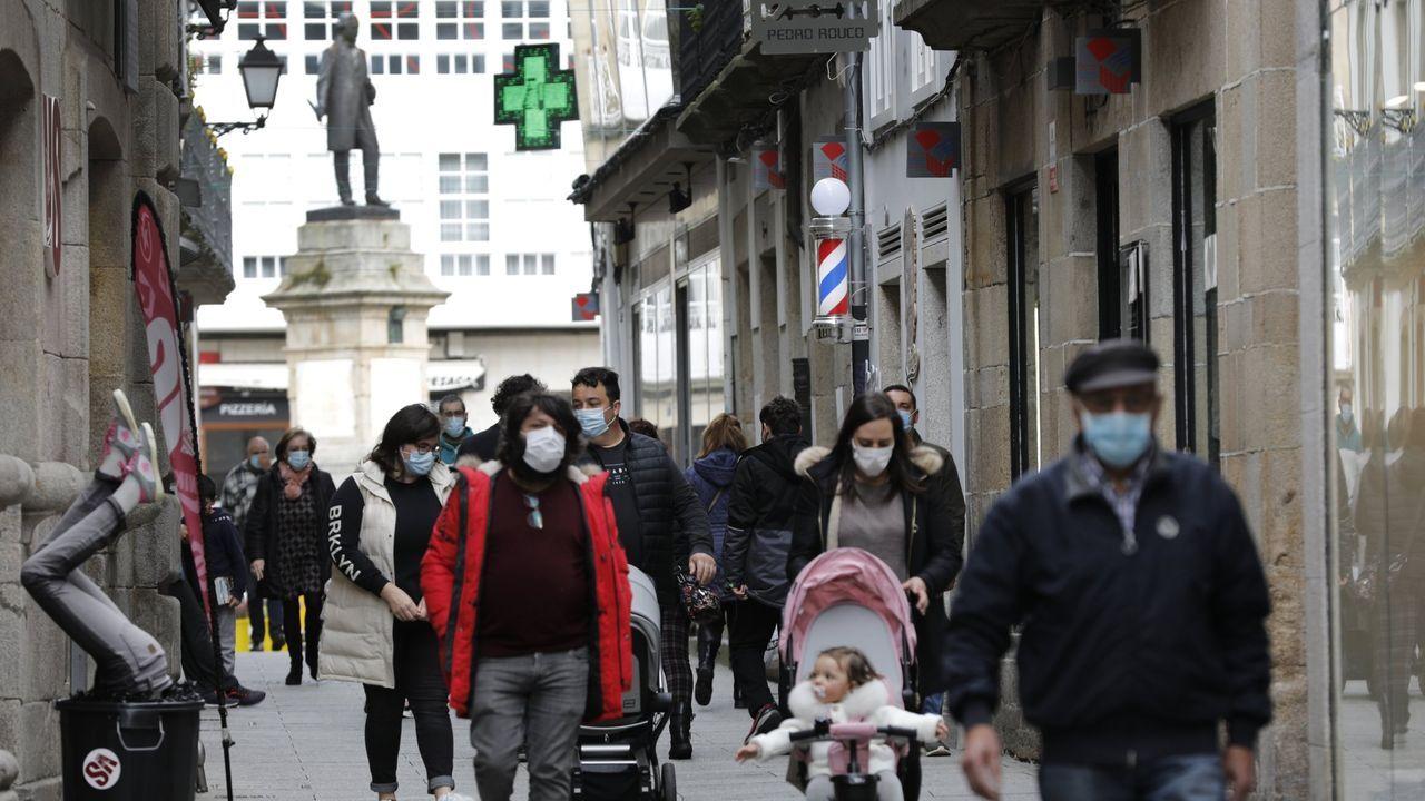 El Centro Comercial Histórico de Viveiro espera recibir entre el jueves y el sábado visitantes de otras localidades ahora que el municipio se encuentra en nivel 3 por el coronavirus