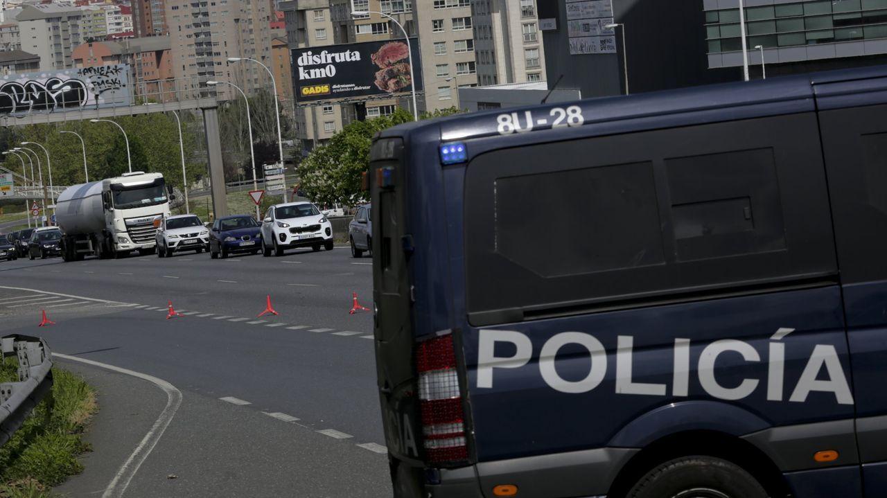 Imagen de archivo de un control policial en una salida de la ciudad