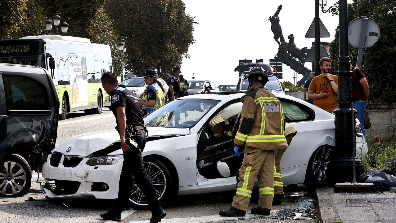 Imagen de un accidente urbano ocurrido en Vigo en el 2019
