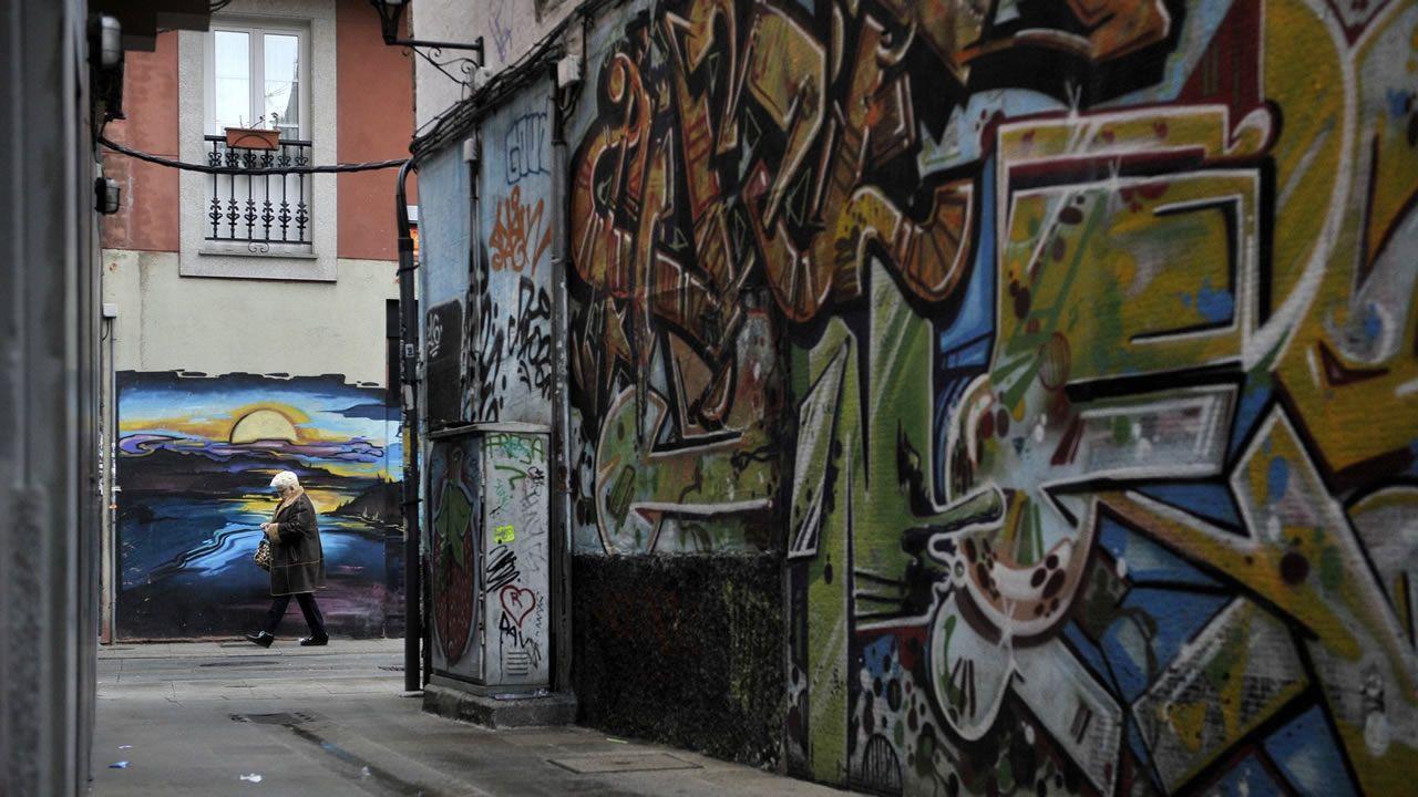 Los barrenderos toman la calle en Santiago.Fiestas de San Mateo