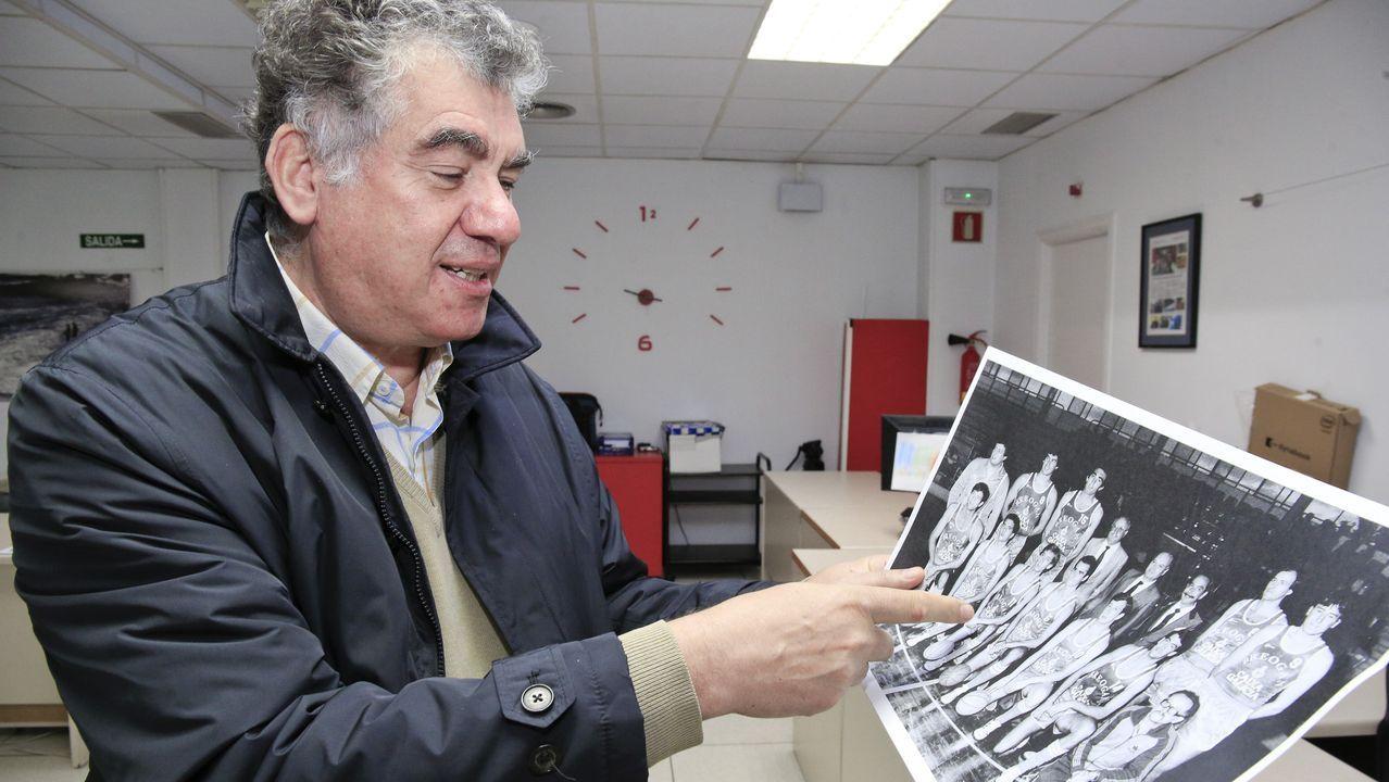 Sevilla, con una foto de su segunda etapa de jugador en el Breogán