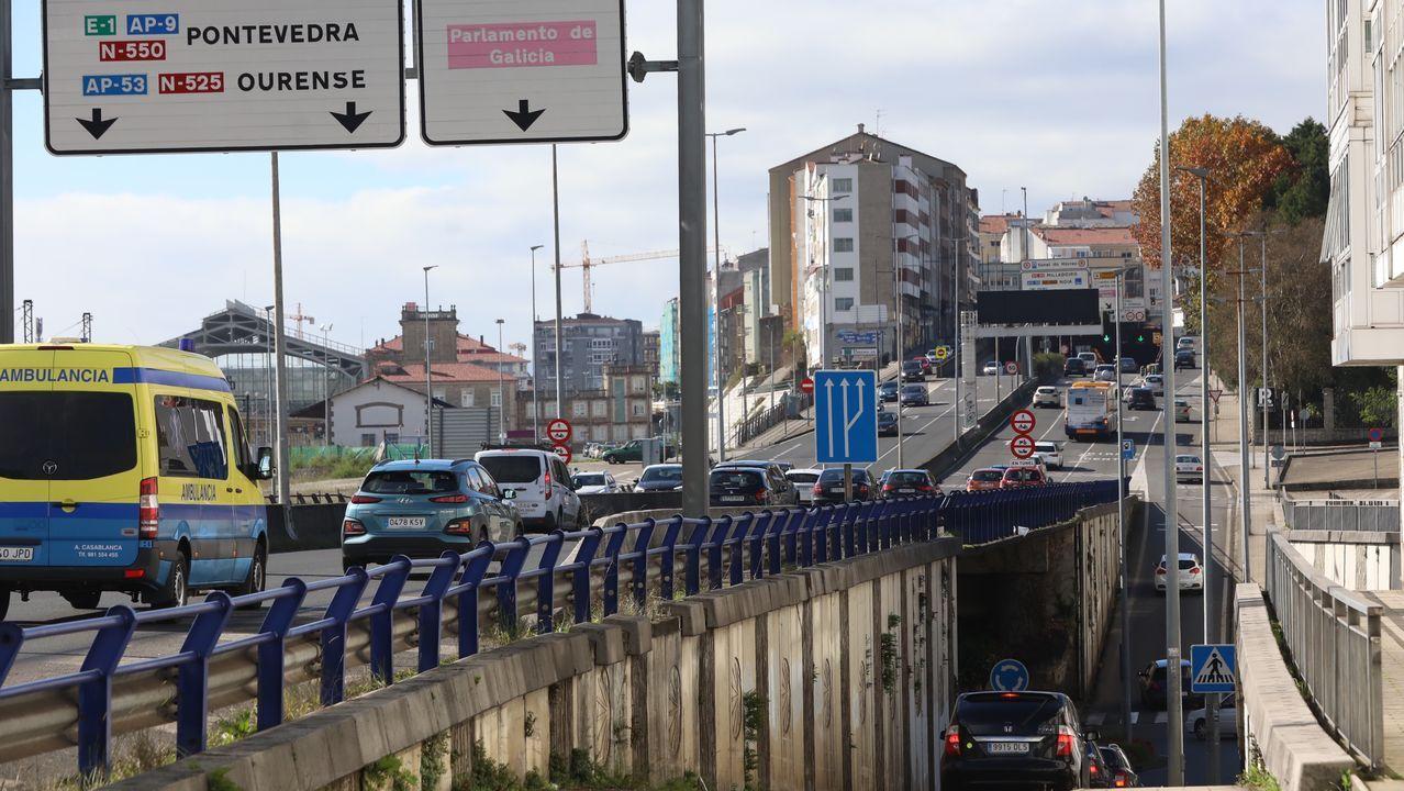 Tráfico en Santiago