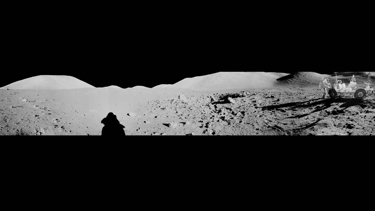 Imagen de la superficie lunar tomada por el Apolo 17