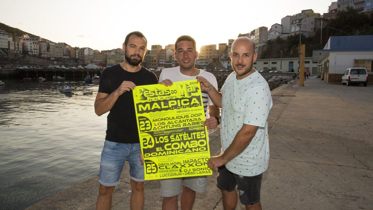 Así arrancaron las Festas do Mar de Malpica: ¡mira las imágenes!.TIROLINA EN MALPICA