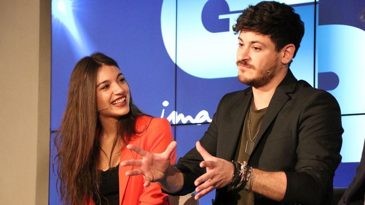 Así se encuentra Javier Hernanz con Mireia Belmonte.El nuevo jurado de  Operación Triunfo 2020