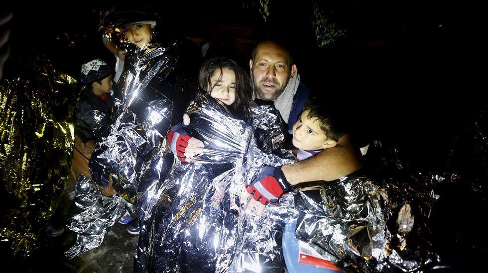 Los refugiados, atrapados en Eslovenia.Un momento da estrea absoluta de «Los esclavos de mis esclavos».