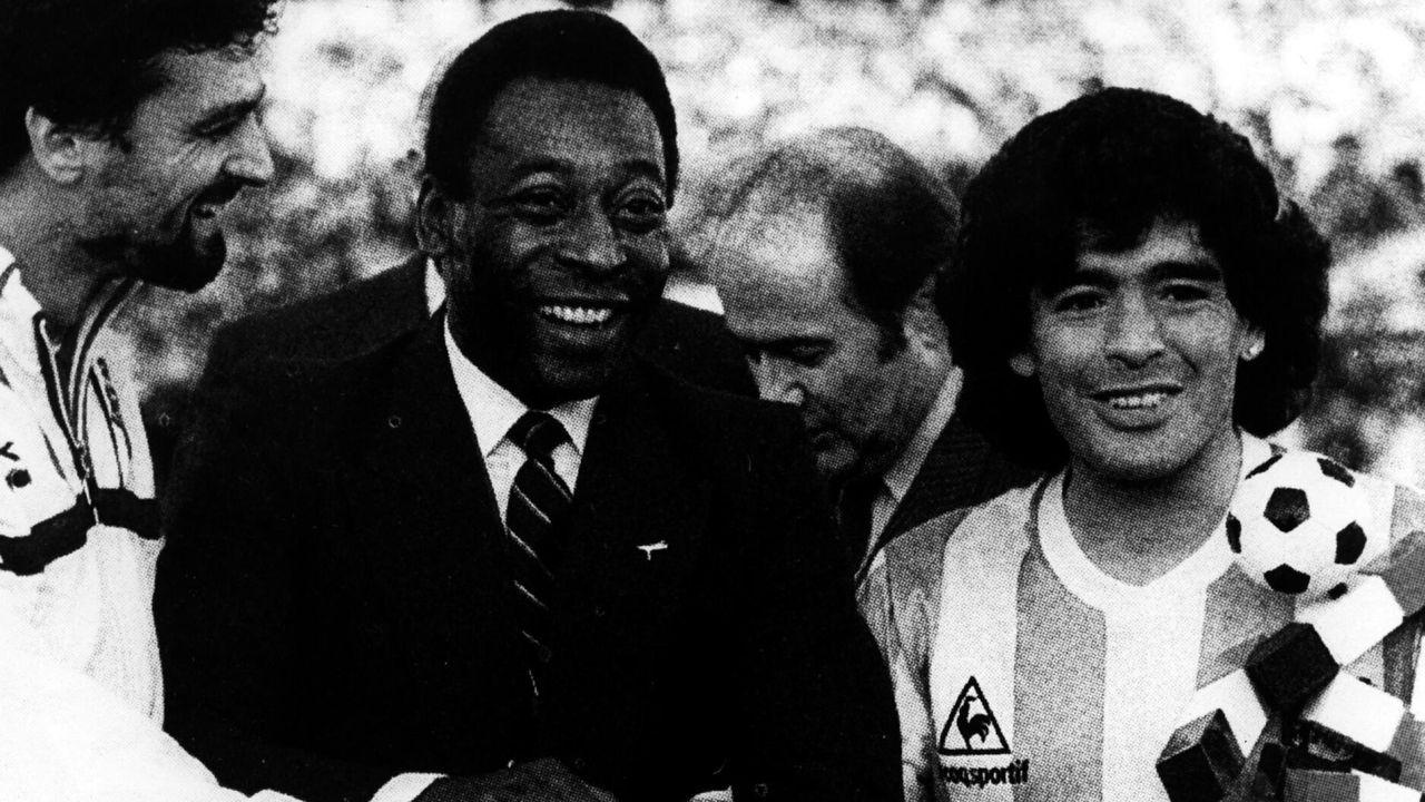 Con Pelé, en el Mundial de 1990