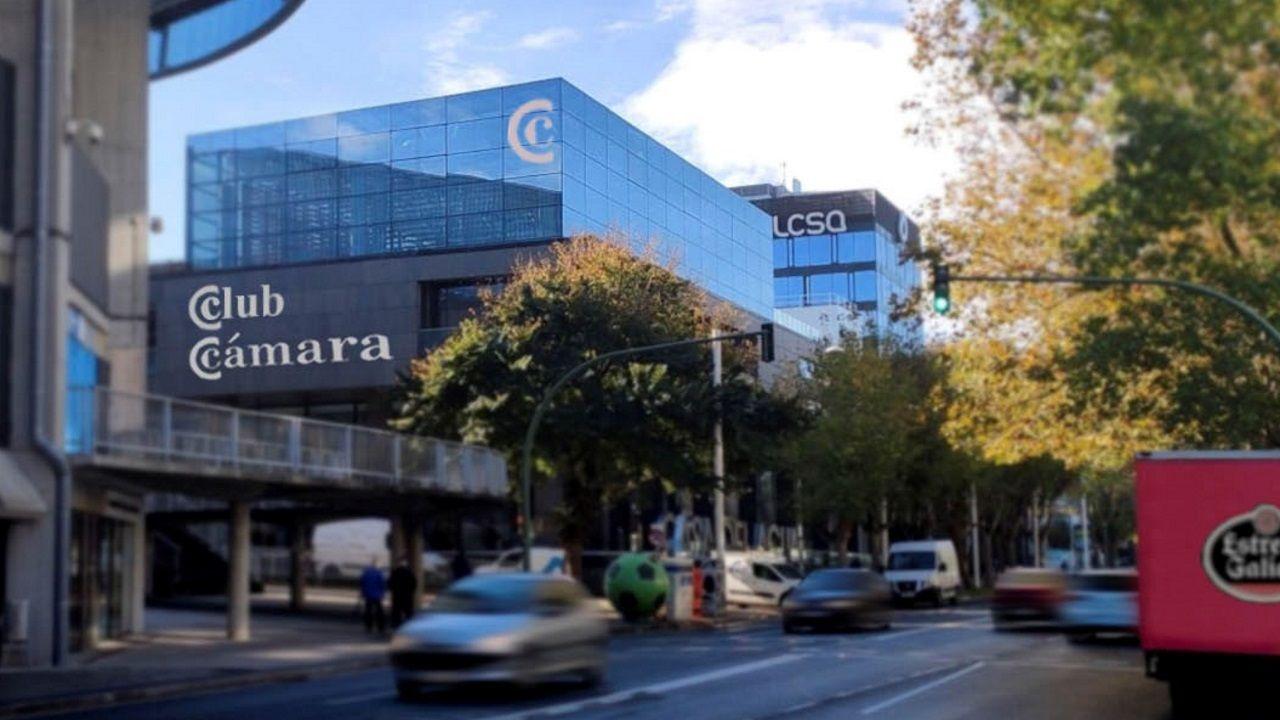 Corte en la avenida de la Concordia por la rotura de una tubería.Simulación de la sede del Club Cámara Noroeste