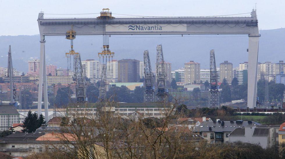 Vista de los astilleros de Navantia Fene