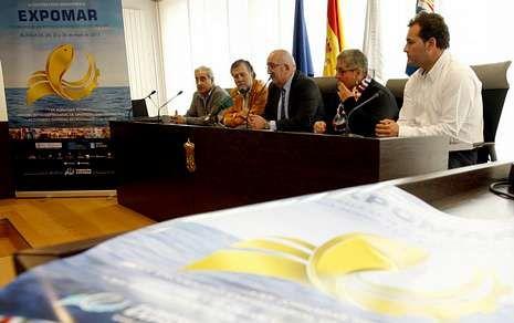 <span lang= es-es >165.000 euros de presupuesto</span>. Abelardo Basanta, Pablo Fernández, José González Barcia, Catalina Sánchez y Manuel Fernández presentaron Expomar, que costará unos 165.000 euros.