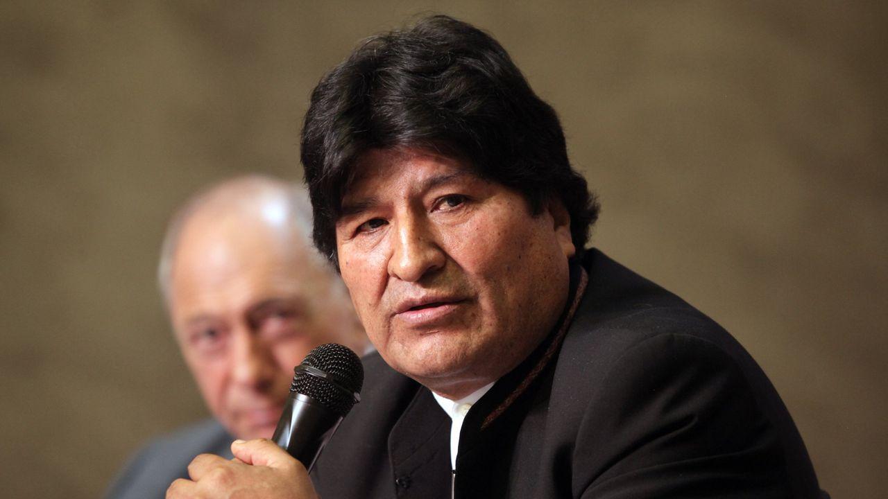 Imagen del expresidente de Bolivia Evo Morales, Gobierno del que formó parte el exministro acusado de robo Alfredo Rada