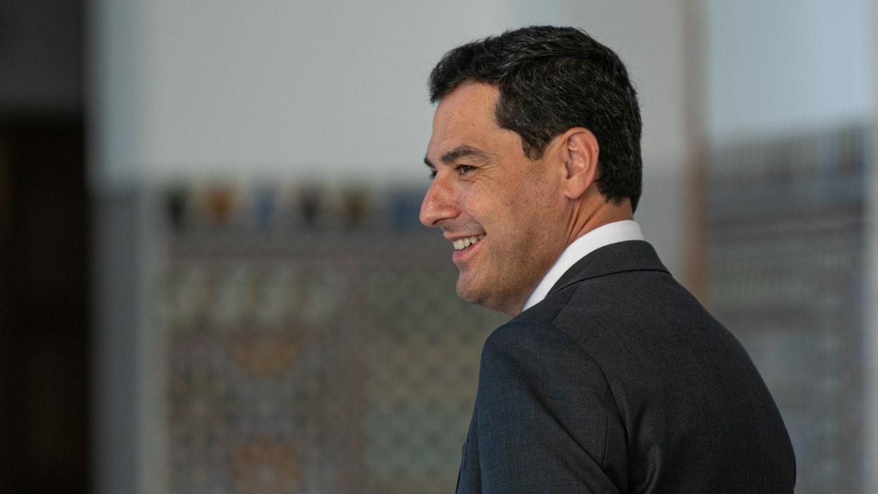 Sánchez comparece tras plantear a los presidentes autonómicos una nueva prórroga.Moreno Bonilla y Feijoo en una imagen de archivo