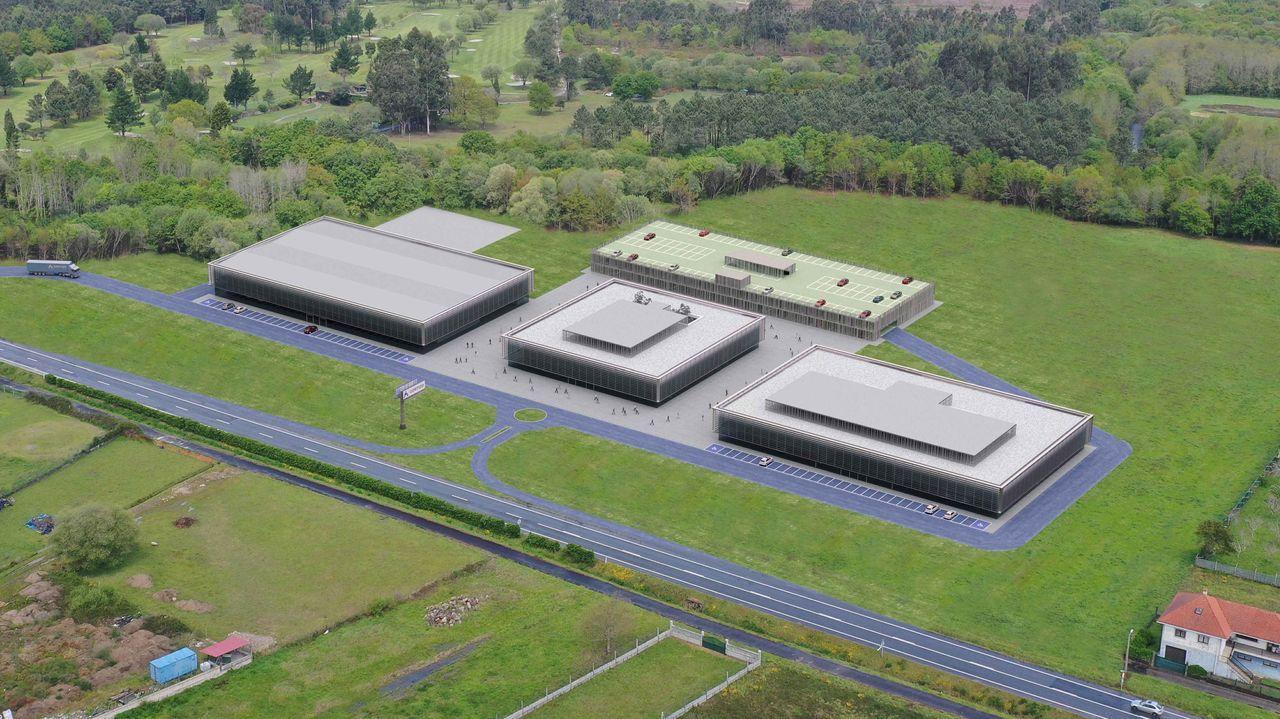 Recreación virtual del campus tecnológico que la empresa construirá en Padrón, cerca de su sede