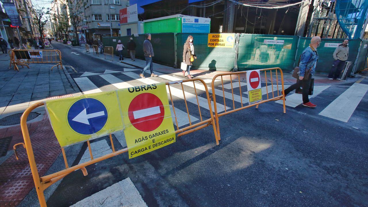 Arranca la reforma urbana en el entorno de las calles Benito Corbal, Sagasta y Cobian Areal.El plan incluye mejoras en el IES Auis Celenis de Caldas de Reis