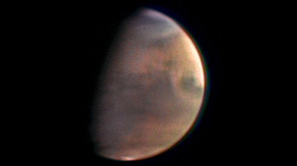 El tremendo poder el nuevo cohete de la NASA.Pendientes empinadas de Hebes Chasma