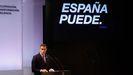 Sánchez, durante la conferencia bajo el título«España puede. Recuperación, Transformación, Resiliencia»