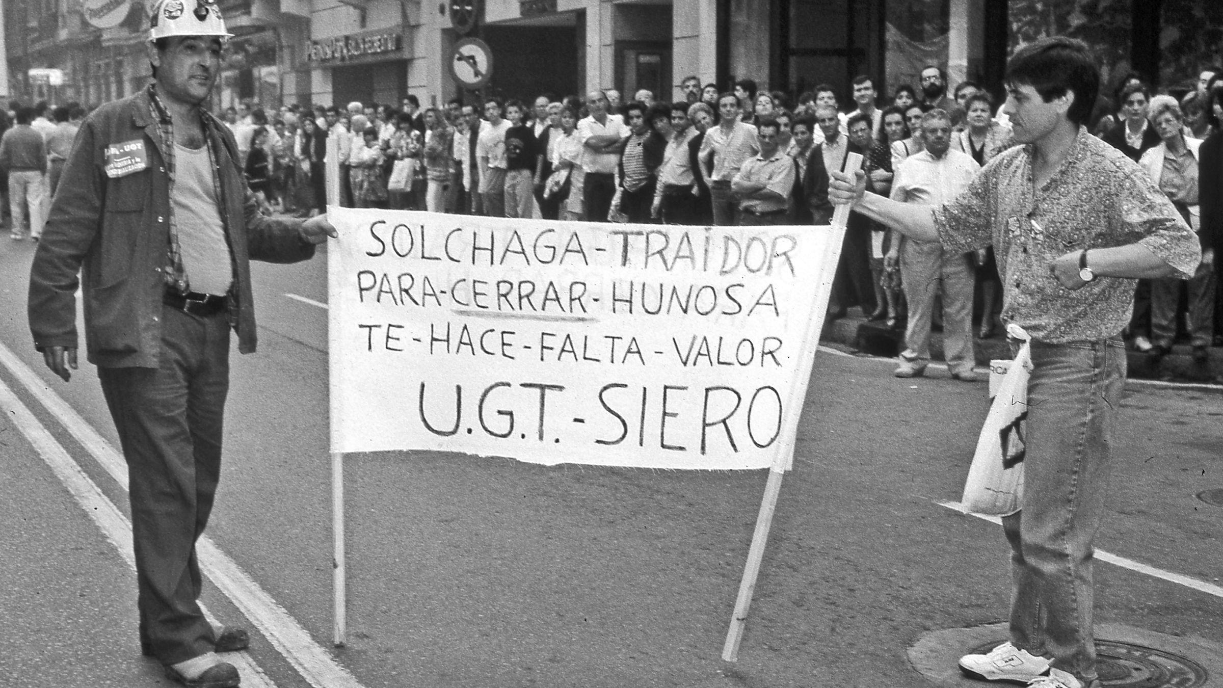 Huelga general en Asturias. 23 de Octubre. Oviedo. Asturias 1991