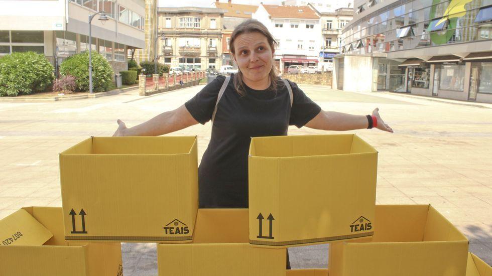 Sandra González, impulsora de A Vila do Mañá, en una imagen de archivo, anterior a la pandemia